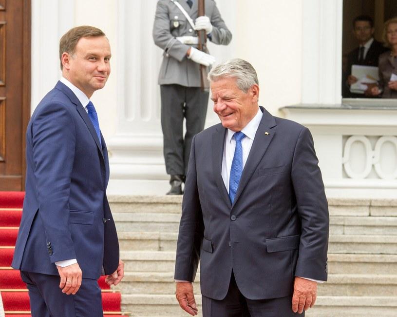 Prezydenci Polski i Niemiec /Jacek Domiński /Reporter