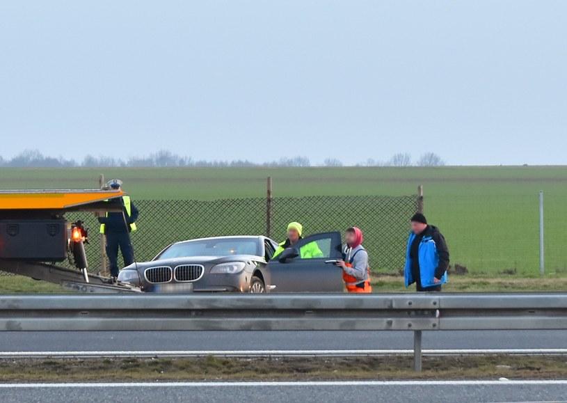 Prezydenckie bmw po wypadku /BRZEG24.PL /East News