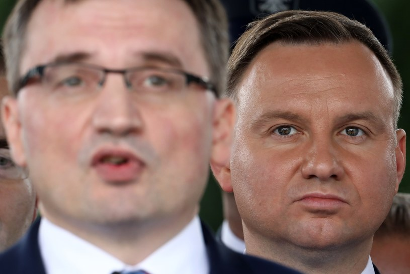 Prezydent Andrzej Duda chce ograniczyć Ograniczenie władzę ministra sprawiedliwości Zbigniewa Ziobry /Stanisław Kowalczuk /East News
