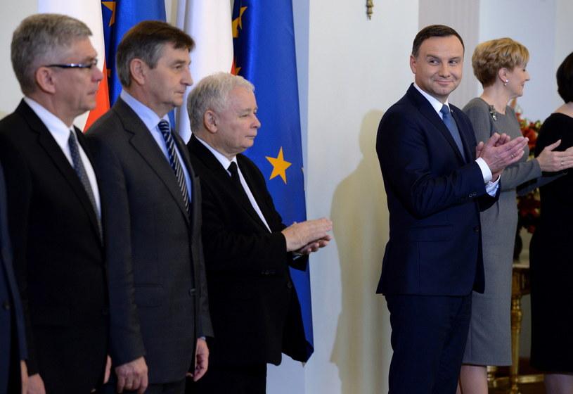 Prezydent Andrzej Duda desygnował Beatę Szydło na premiera /Jacek Turczyk /PAP