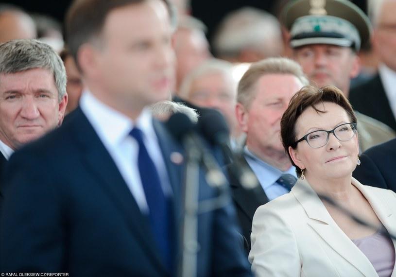 Prezydent Andrzej Duda i premier Ewa Kopacz w czasie przejęcia przed prezydenta zwierzchnictwa nad Siłami Zbrojnymi RP /Rafal Oleksiewicz/REPORTER /East News