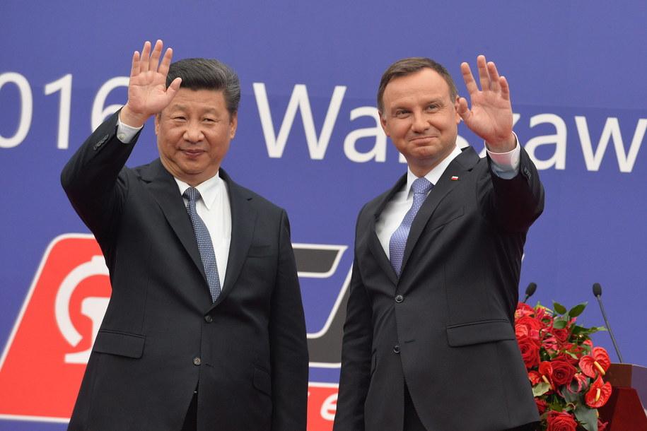 Prezydent Andrzej Duda i przewodniczący Chińskiej Republiki Ludowej Xi Jinping w Warszawie /PAP