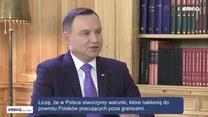 Prezydent Andrzej Duda o Angeli Merkel i stosunkach z Niemcami