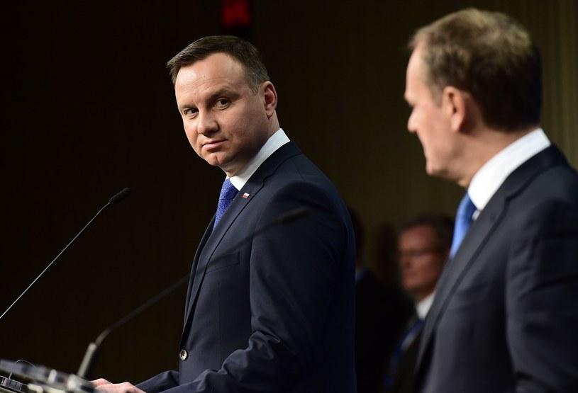 Prezydent Andrzej Duda odmówił spotkania z szefem RE Donaldem Tuskiem /EastNews/EMMANUEL DUNAND /AFP