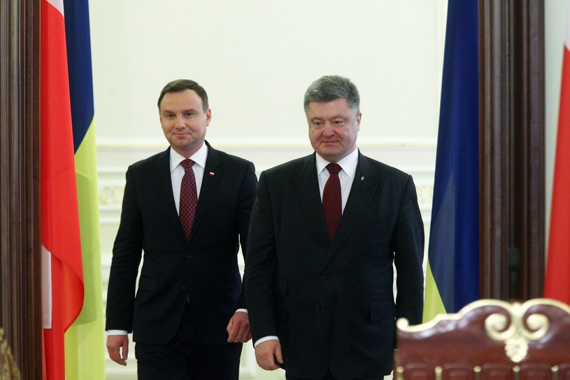 prezydent Andrzej Duda oraz prezydent Petro Poroszenko /Ukrafoto /East News