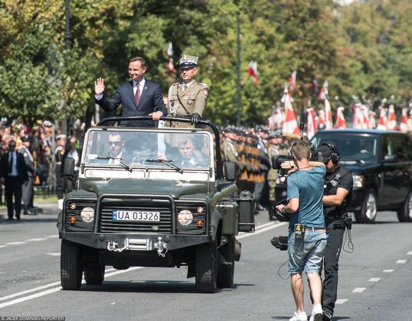 Prezydent Andrzej Duda w czasie Święta Wojska Polskiego /Jacek Dominski/REPORTER /East News