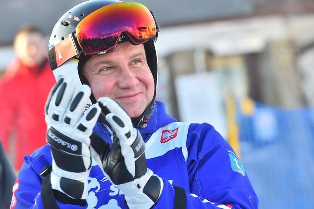 Prezydent Andrzej Duda w stroju narciarskim /Mateusz Jagielski /East News