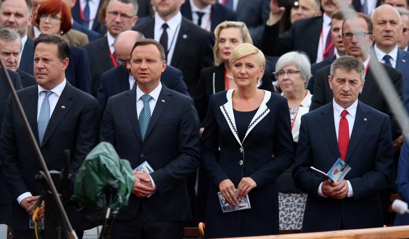 Prezydent Andrzej Duda  z małżonką Agatą Kornhauser-Dudą /Paweł Supernak /PAP