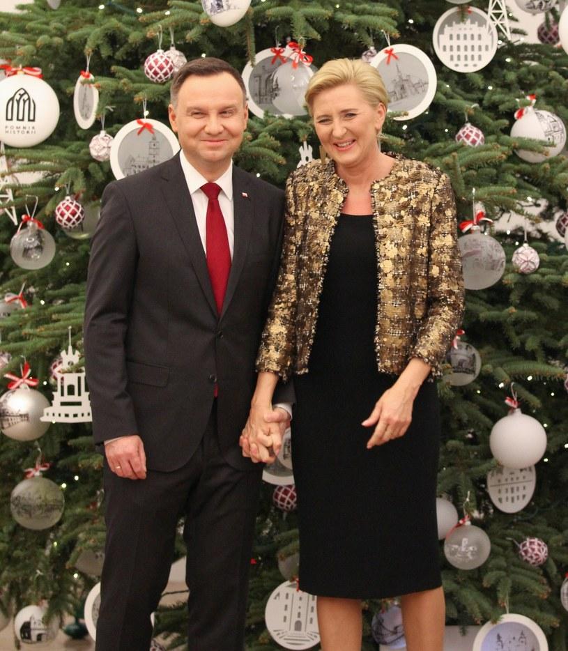 Prezydent Andrzej Duda z żoną Agatą /Robert Ostrowski /East News