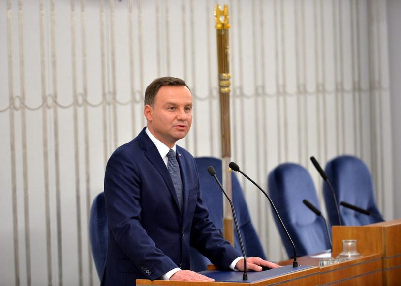 Prezydent Andrzej Duda /Marcin Obara /PAP