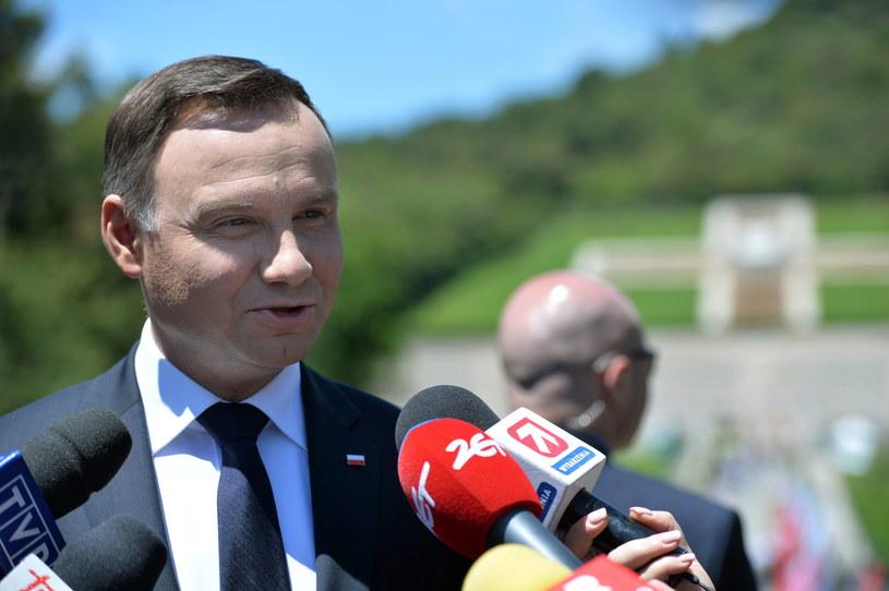 Prezydent Andrzej Duda /Jacek Turczyk /PAP
