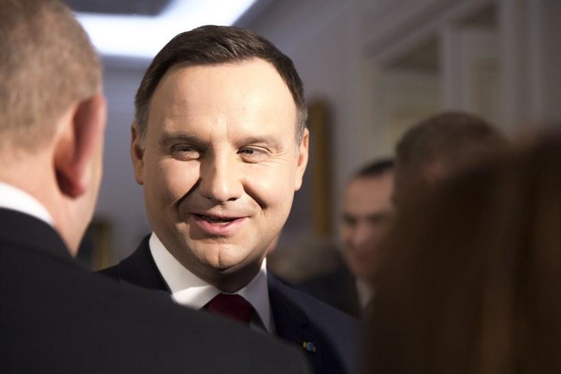 Prezydent Andrzej Duda /Maciej Luczniewski /Reporter