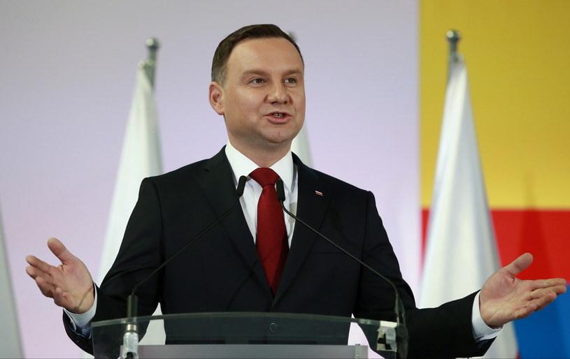 Prezydent Andrzej Duda /Marcin Bednarski /PAP