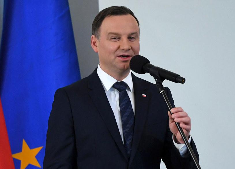 Prezydent Andrzej Duda /Bartłomiej Zborowski /PAP