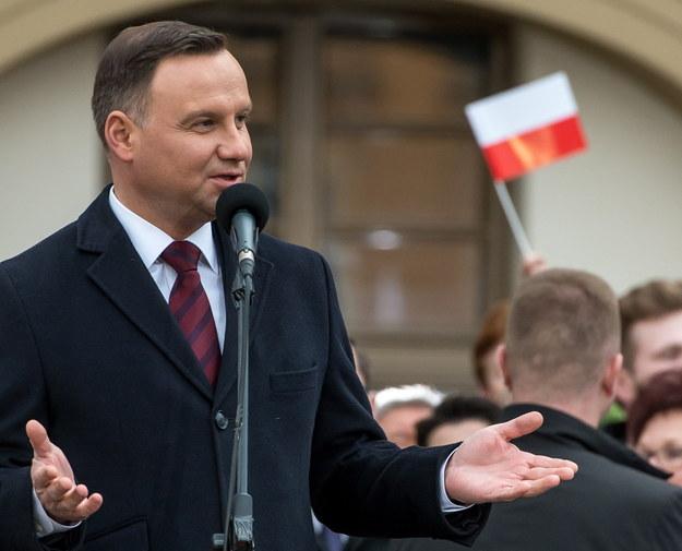 Prezydent Andrzej Duda /Maciej Kulczyński /PAP