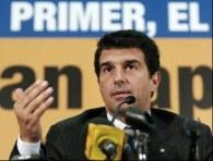 Prezydent Barcelony Joan Laporta /AFP