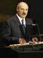 Prezydent Białorusi Alaksandr Łukaszenka /JEFF HAYNES /AFP