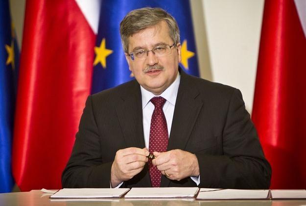 Prezydent Bronisław Komorowski, fot. Andrzej Stawiński /Reporter