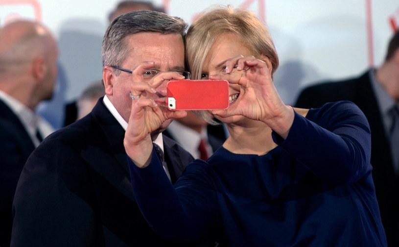 Prezydent Bronisław Komorowski i Otylia Jędrzejczak /Bartłomiej Zborowski /PAP