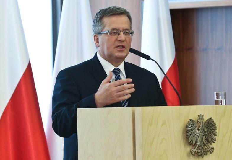 Prezydent Bronisław Komorowski /Rafał Guz /PAP