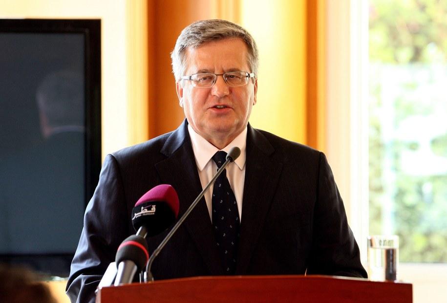 Prezydent Bronisław Komorowski /STR /PAP/EPA