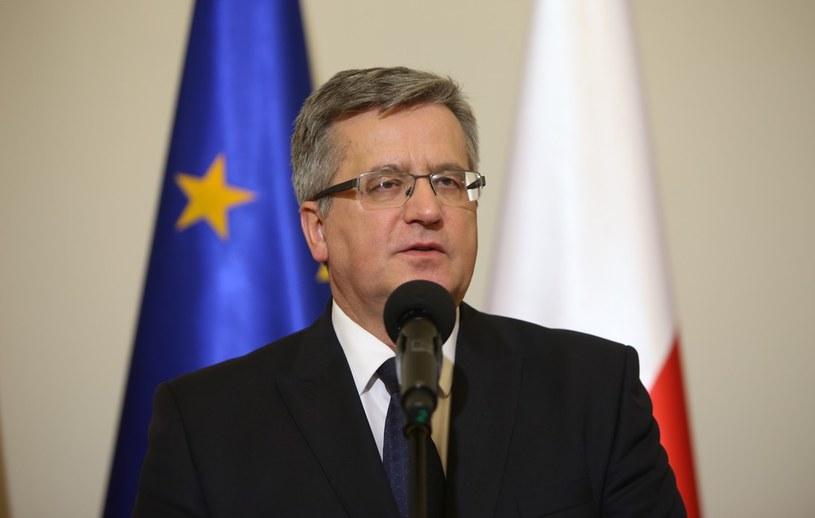 Prezydent Bronisław Komorowski. /Stanisław Kowalczuk /East News