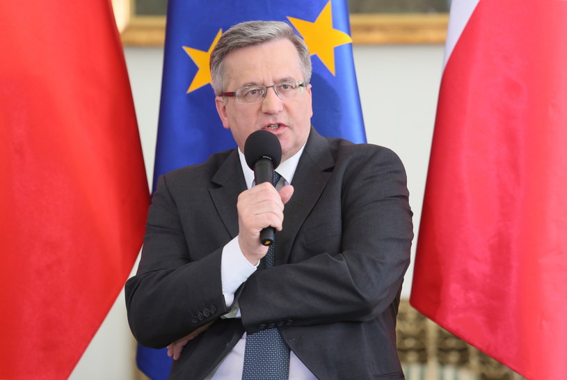 Prezydent Bronisław Komorowski /Leszek Szymański /PAP