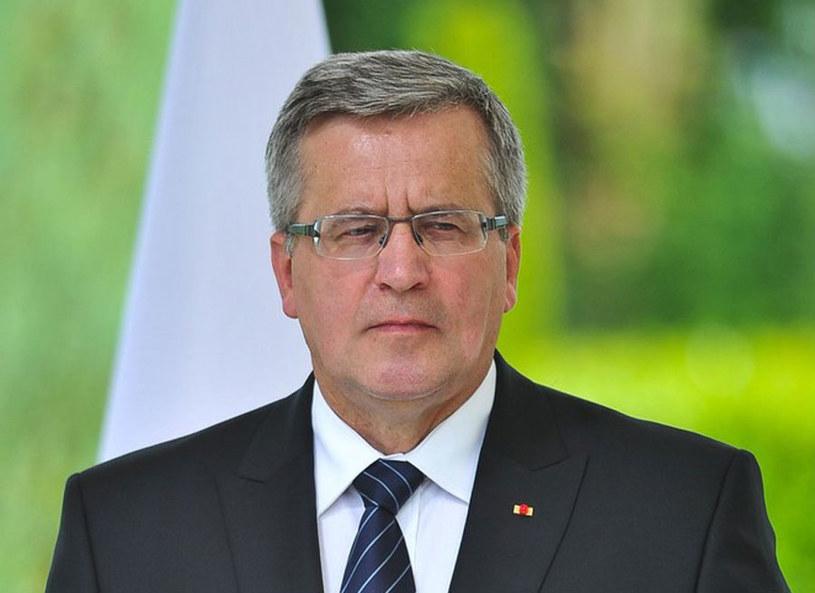 Prezydent Bronisław Komorowski /ZIHNIOGLU KAMIL/SIPA /East News