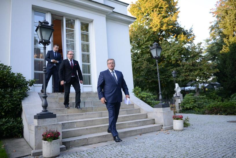 Prezydent Bronisław Komorowski /Jacek Turczyk /PAP