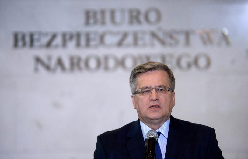 Prezydent Bronisław Komorowski /Bartłomiej Zborowski /PAP