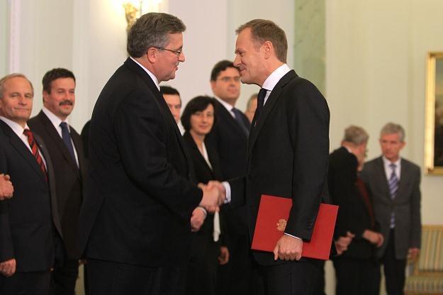 Prezydent desygnował Donalda Tuska na premiera/fot. B. Zborowski /PAP