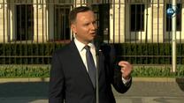 Prezydent Duda: Na Krakowskim Przedmieściu powinny stanąć dwa pomniki