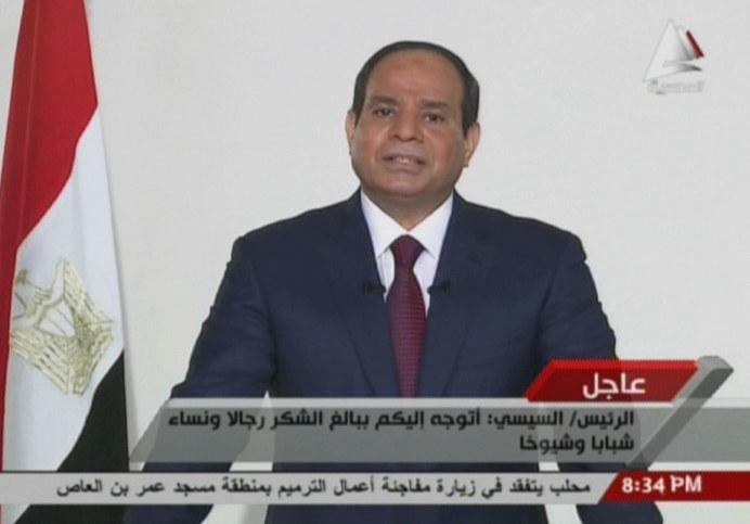 Prezydent Egiptu Abd el-Fatah es-Sisi /AFP