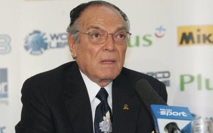 Prezydent FIVB Ruben Acosta Fot. Łukasz Grochala /Agencja Przegląd Sportowy