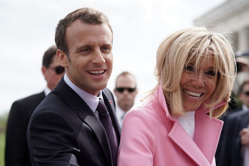 Prezydent Francji Emmanuel Macron z małżonką Brigitte /ALEX WONG / GETTY IMAGES NORTH AMERICA  /AFP