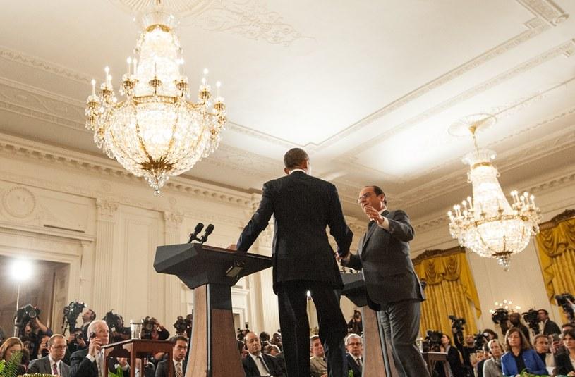 Prezydent Francji Francois Hollande z wizytą w Waszyngtonie  prezydenta USA Baracka Obamy /NICHOLAS KAMM / AFP /AFP