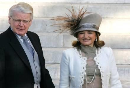 Prezydent Islandii  Olafur Grimsson z żoną Dorrit Moussaieff /AFP