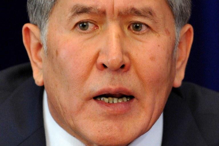 Prezydent Kirgistanu Ałmazbek Atambajew /AFP