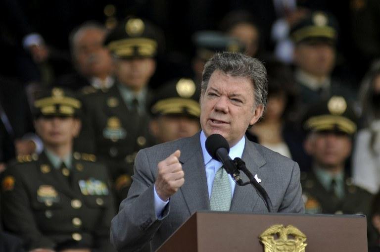 Prezydent Kolumbii Jose Manuel Santos /AFP