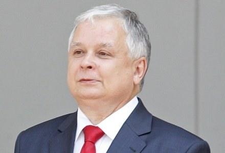 Prezydent Lech Kaczyński przyznawał dziś odznaczenia /AFP