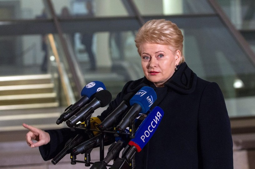 Prezydent Litwy Dalia Grybauskaite /PAP/EPA