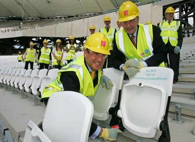 Prezydent MKOl.  Jacques Rogge na stadionie olimpijskim w Londynie /AFP