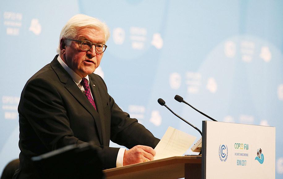 Prezydent Niemiec Frank-Walter Steinmeier /DPA/Oliver Berg /PAP