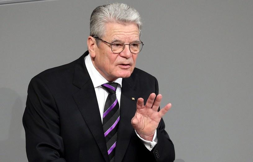 Prezydent Niemiec Joachim Gauck /AFP