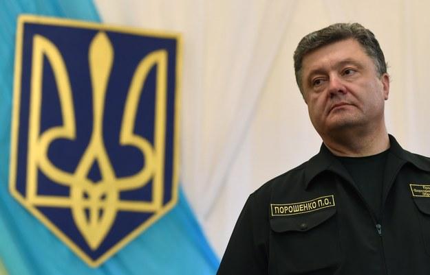 Prezydent Petro Poroszenko /AFP