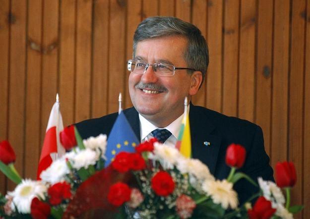 Prezydent podczas wizyty na Litwie /Agencja FORUM