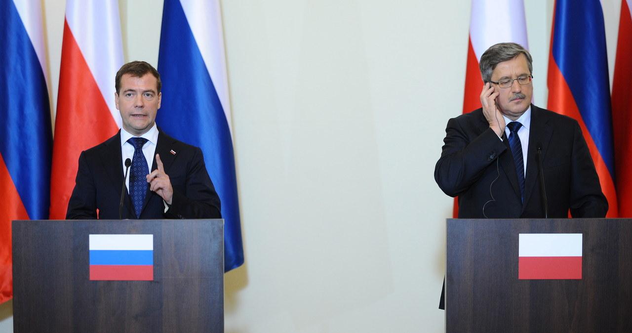Prezydent Rosji Dmitrij Miedwiediew w Polsce