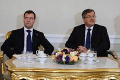 Prezydent Rosji podczas pierwszej oficjalnej wizyty w Polsce