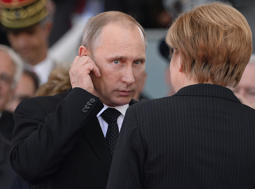 Prezydent Rosji Władimir Putin i kanclerz Niemiec Angela Merkel /AFP