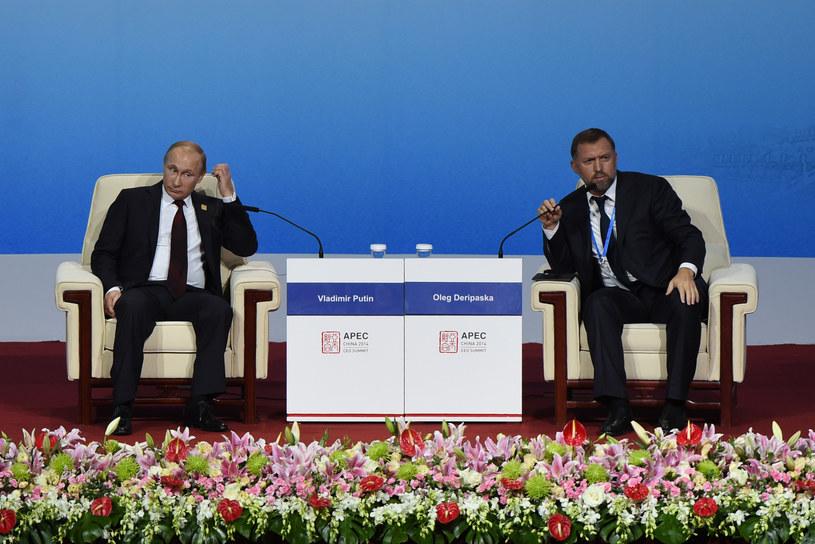 Prezydent Rosji Władimir Putin i Oleg Deripaska /WANG ZHAO  /AFP